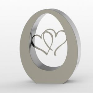 Hartvormige urn rvs