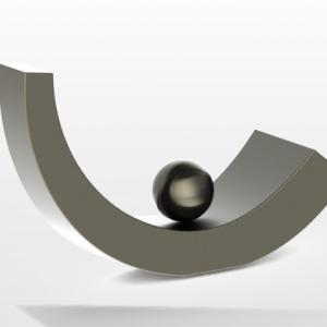 Moderne urn rvs rechts